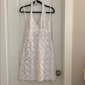 Lilly Pulitzer white lace halter dress 8